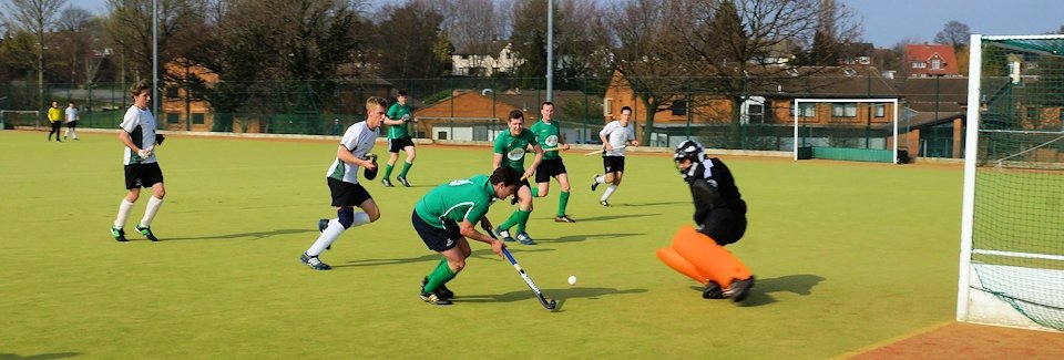 Chesterfield Hockey Club 1st XI attacking penalty corner